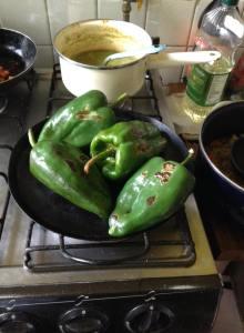 chiles asados