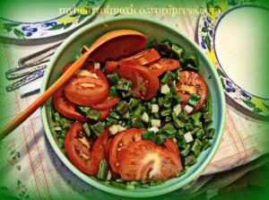 nopal cactus salad