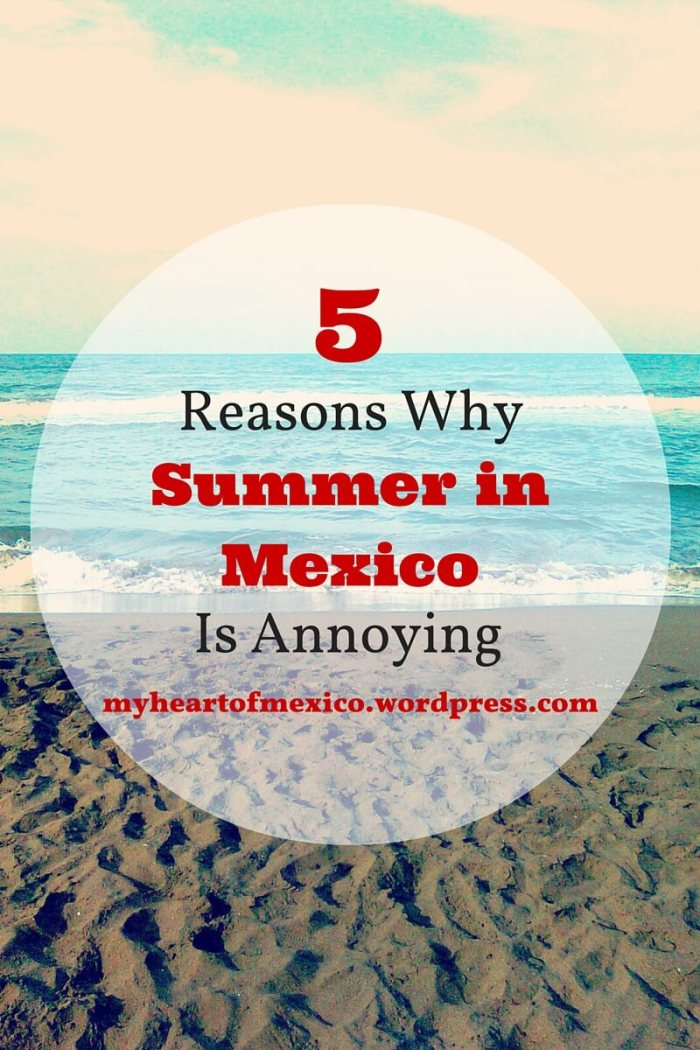 5 Reasons Why Summer in Mexico is Annoying | My Heart Of Mexico