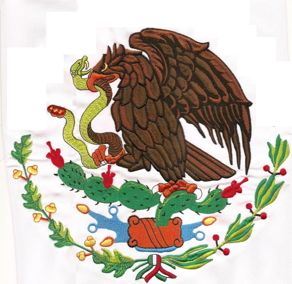 how to draw the eagle on the mexican flag