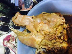 Pozole ingredients- pig's head