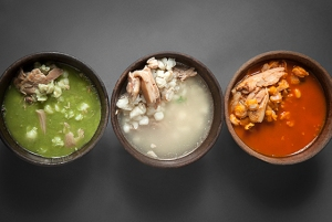 Different kinds of pozole