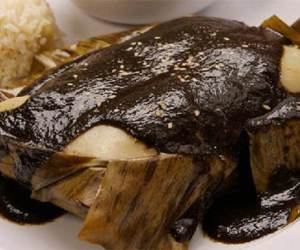 black mole tamale