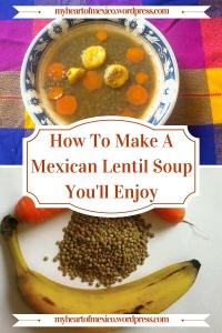 Mexican lentil soup recipe