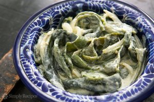 Roasted Poblanos with cream