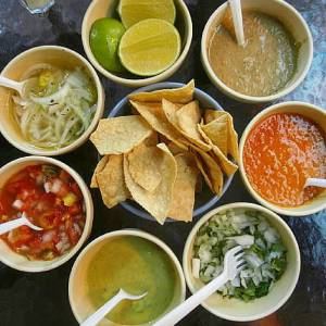 Salsas and toppings for tacos | My Heart Of Mexico