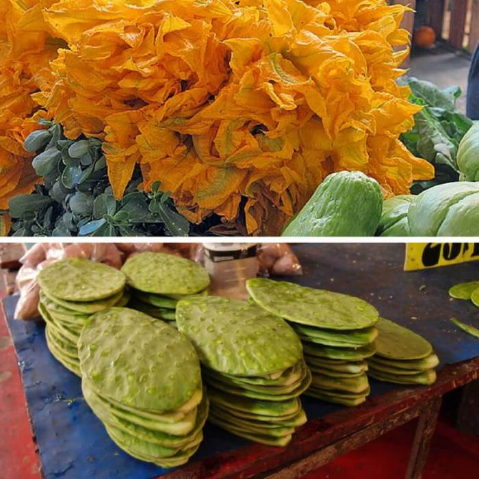 Mexican Market Foods Nopal Squash Blossoms