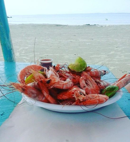 Shrimp on Mexican beach